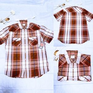 Old Navy Shirts - Men's Plaid button down short sleeve size L🦅